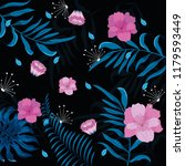 floral pattern background | Shutterstock .eps vector #1179593449