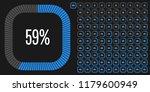 set of rectangle percentage...