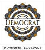 democrat arabesque badge.... | Shutterstock .eps vector #1179639076