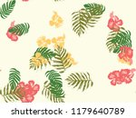 tropical background. green ... | Shutterstock .eps vector #1179640789