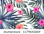 green red exotic pattern.... | Shutterstock .eps vector #1179641869