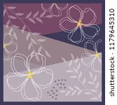 violet flower scarf pattern... | Shutterstock .eps vector #1179645310