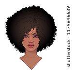 african american pretty girl... | Shutterstock .eps vector #1179646639