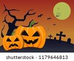 halloween pumkins background... | Shutterstock .eps vector #1179646813