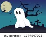 boo ghost halloween background... | Shutterstock .eps vector #1179647026