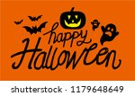 happy halloween text banner | Shutterstock .eps vector #1179648649