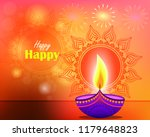 floral background on diwali... | Shutterstock .eps vector #1179648823