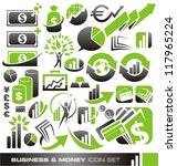 Business, money and finance icons and symbols vector set - business design elements and graphics