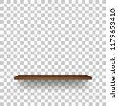 wooden shelf on transparent...   Shutterstock .eps vector #1179653410