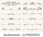 vector set of decorative...   Shutterstock .eps vector #1179654553