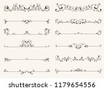 vector set of decorative... | Shutterstock .eps vector #1179654556