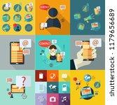 business technology flat design ... | Shutterstock .eps vector #1179656689