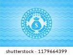 money bag icon inside water... | Shutterstock .eps vector #1179664399