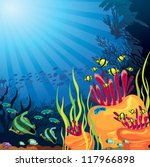 Underwater Life   Coral Reef...
