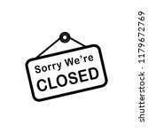 closed sign icon vector template | Shutterstock .eps vector #1179672769