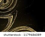 gold glitter powder splash... | Shutterstock .eps vector #1179686089