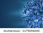 vector abstract 3d crystal. a... | Shutterstock .eps vector #1179696040