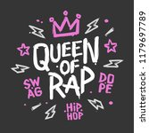 queen of rap girly fashion t... | Shutterstock .eps vector #1179697789