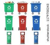 separation recycle bin waste... | Shutterstock . vector #1179700243