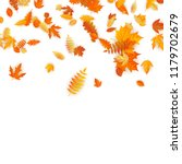 autumn background with golden... | Shutterstock .eps vector #1179702679