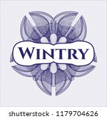 blue linear rosette with text... | Shutterstock .eps vector #1179704626