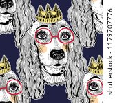 seamless pattern of cute doodle ... | Shutterstock .eps vector #1179707776