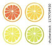 vector lime  lemon  grapefruit... | Shutterstock .eps vector #1179709930
