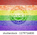 advanced lgbt colors emblem  | Shutterstock .eps vector #1179716830