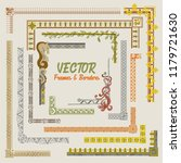 decorative frames and borders... | Shutterstock .eps vector #1179721630