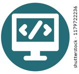 html codetwo colors glyph...   Shutterstock .eps vector #1179722236