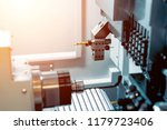 working area of modern lathe... | Shutterstock . vector #1179723406