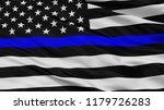 Blue Lives Matter Closeup Flag...