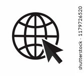 globe go to web icon. vector... | Shutterstock .eps vector #1179726520