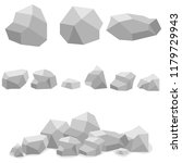 stones  a set of gray stones.... | Shutterstock .eps vector #1179729943