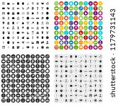 100 beauty product icons set in ... | Shutterstock . vector #1179731143