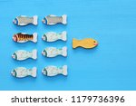 different fish swimming... | Shutterstock . vector #1179736396