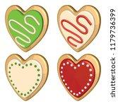 christmas cookie set. heart... | Shutterstock .eps vector #1179736399