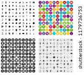 100 renovation icons set in 4... | Shutterstock . vector #1179736753