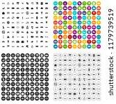 100 public transport icons set... | Shutterstock . vector #1179739519
