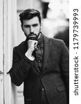 young bearded man  model of... | Shutterstock . vector #1179739993
