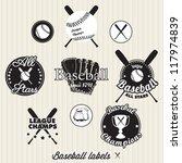 baseball league champs labels... | Shutterstock .eps vector #117974839
