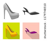 isolated object of footwear and ... | Shutterstock .eps vector #1179748510