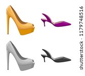 isolated object of footwear and ... | Shutterstock .eps vector #1179748516