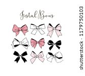 festal graphic bows collection | Shutterstock .eps vector #1179750103
