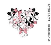 festal graphic bows heart | Shutterstock .eps vector #1179750106