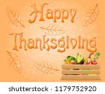 text happy thanksgiving... | Shutterstock . vector #1179752920