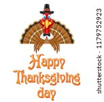 thanksgiving turkey bird... | Shutterstock . vector #1179752923