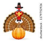 thanksgiving turkey bird... | Shutterstock . vector #1179752926