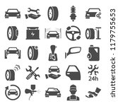 car service simple icons set | Shutterstock .eps vector #1179755653