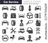 car service simple icons set | Shutterstock .eps vector #1179755659